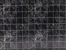Dollhouse Miniatures 1:12 Scale No Wax Marble Floor Tiles: Black #Mh5956