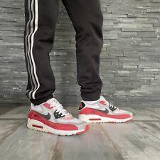 Nike Air Max 90 Free Hybrid grau weiß rot 45 - ultra leicht mit Wildleder & Mesh