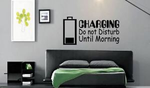 Vinyl wall art Decal Sticker Charging Do not Disturb until morning xbox one ps4