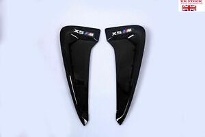 For BMW X5 X5M F15 F85 13-19 X5M LOGO Side Fender Air Wing Vent Trim Black