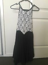 Women's Valleygirl Branded Black And White Lace Dress Size 8 BNWOT
