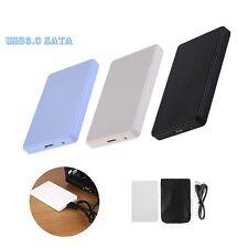 Adaptateur Lecteur disque USB 3.0 2.0  SATA HDD Disque Dur Boîtier Externe 2 TB