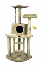 """HIDING Cat Tree™ 48"""" Play House Condo Furniture Bed Tower Scratch Post Pole"""