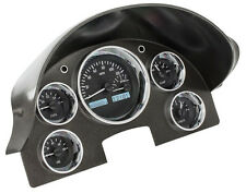 Dakota Digital 56 Ford Car Analog Dash Gauges System Black Alloy White VHX-56F