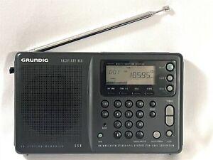 Grundig YB 400 Yacht Boy LW/MW/SW/FM Short Wave World Radio Receiver Black