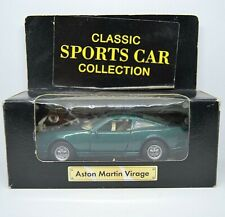 Boxed ASTON MARTIN VIRAGE CLASSIC SPORTS CAR COLLECTION Pull back Green Sale