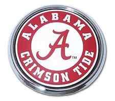 Alabama Crimson Tide Chrome Metal Auto Emblem (Seal) NCAA Licensed
