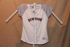 NEW YORK METS Majestic  sewn FASHION JERSEY  Womens Medium  sz 10-12  NWT  white