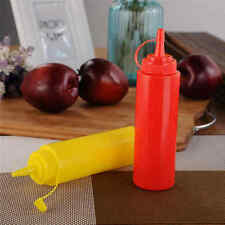 Ketchup & Mustard Dispensers Squeeze Bottle Condiment BBQ Set Picnic Sauce