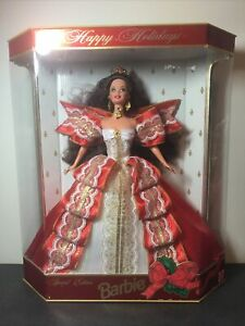 1997 Happy Holidays Barbie Doll Special Edition 10th Anniversary New