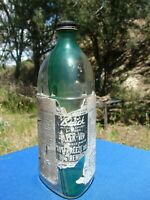 ANTIQUE BUICK KLEER VIEW ANTI FREEZE BUG CLEANER BOTTLE Green GLASS