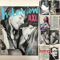 Interview Magazine May 1992 Axl Rose Stephanie Seymour Annie Lennox Tori Amos