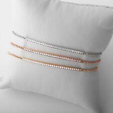 14K Yellow, White or Rose Gold Diamond Bar Bracelet