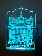 LED Lámpara de luz nocturna Templo de Oro Cambio De Color Luz Suave religiosa Sij