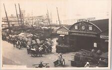 RPPC Praya Central Hong Kong China British Line Steamers Dock VHTF G5