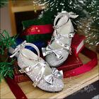 1/3SDGR BJD Shoes Cross Buckles High Heels Shining Starry Bow Deco Flash Sliver