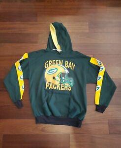 Green Bay Packers Vintage Hoodie Sweatshirt Shirt Chalk Line Men's Size XLarge