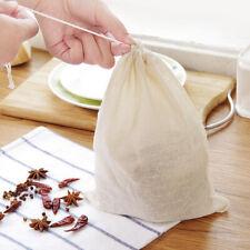 3X Organic Cotton Nut Milk Bag Reusable Food-Strainer Brew Coffee Cheese-Cloth