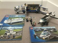 LEGO City Mobile Police Unit (60044) plus Police Helicopter (7741)