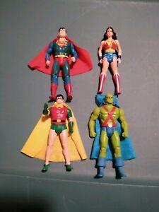 Vintage DC Super Powers Lot Wonder Woman, Superman, Robin, Martian Manhunter