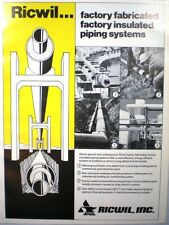 Ricwil Pipe Insulation System Catalog Anvil Industries ASBESTOS 1981
