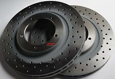 Fits 911 912 924 944 Cross Drilled Brake Rotors Sebro Made In Germany Front