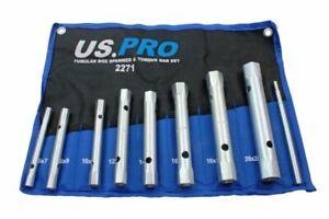 Metric Box Spanner Wrench Tubular Torque Bar Set Plug Sockets 8pc 6 – 22mm 2271