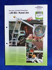 Jo-Ba Kanal-Jet - Gülle Rührwerk - Prospekt Brochure  (0804