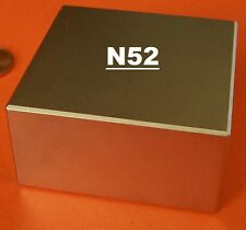 Block 2x2x1in Super Strong N52 * Highest Quality Rare Earth Neo Magnet Neodymium