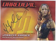 "2002 TOPPS DAREDEVIL AUTO CARD: JENNIFER GARNER/ELEKTRA AUTOGRAPH ""ALIAS/JUNO"""
