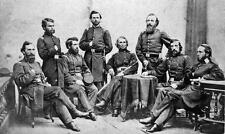 Photo.  ca 1864. Civil War.  Soldiers - Group of Military personnel