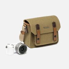Herringbone Camera Shoulder Mini Bag for Compact DSLR / Accessories (Khaki)