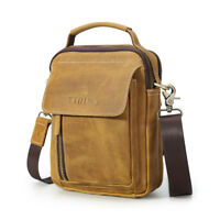 Men's Real Leather Shoulder Bag Handbag Crossbody Bag Satchel Messenger Bag