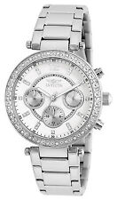 Invicta Womens 21386 Angel Chronograph Crystal-Accented Stainless Steel Watch