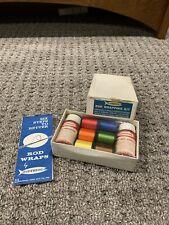 vintage Gudebrod Rob wrap kit with wrap, color preserver, & glass rod varnish