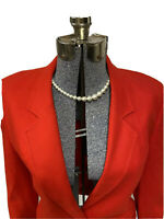 Pendleton Red 100% Virgin Wool Suit Jacket Blazer Vintage Lined Original Buttons