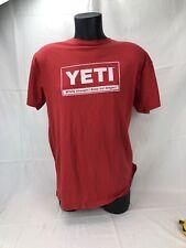YETI Men's Large Red Short Sleeve T Shirt Wildly Stronger! Keep Ice Longer!