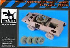 Blackdog Models 1/35 M1117 GUARDIAN INTERIOR & WHEELS Resin Accessory Set