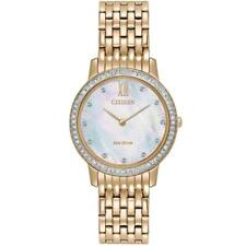 Citizen Eco-Drive Silhouette Rose Gold Stainless Steel Ladies Watch EX1483-50D