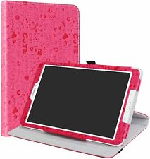 Samsung Galaxy Tab E 9.6 Case,LiuShan 360 Degree Rotation Stand Rose Red Leather