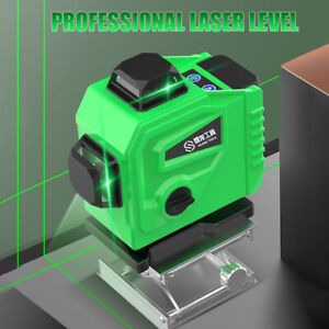 16 Lines Green Laser Level 360°Rotary Self Leveling Cross Measure Tool Set
