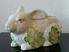 Large White Bunny Rabbit Planter - Haidon Group 1987 Made in Japan