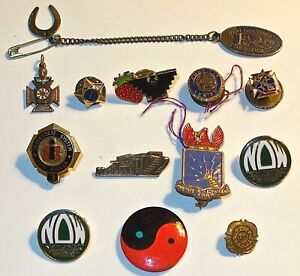LOT of ASSORTED Vintage FRATERNAL ORGANIZATIONS PINS & MORE~SOME SILVER~GF~L #1!
