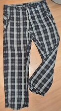 Oakley Black Grey Plaid Golf Pants Slacks Men's Size 38 32 100% Cotton