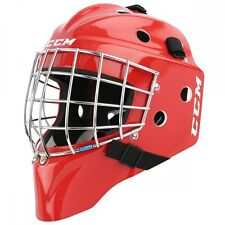 New CCM 7000 Jr goalie face mask size junior red carbon ice hockey goal helmet
