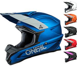 Oneal 1 Series Solid Motocross Helmet 1SRS Dirt Bike Enduro ABS Shell Crash Lid
