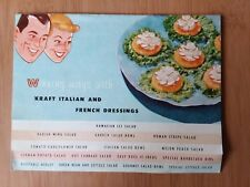 Vtg Kraft Italian and French Dressing Recipe Pamphlet Cook Book