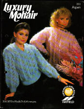 Rétro mohair Knitting Pattern, Hayfield, Mesdames Pull, 30-38 in, 2013