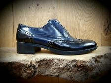 Luis Gonzalo // 4038M // Handmade Womens Navy & Black Shoes // NEW!