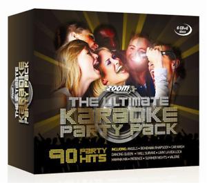 Karaoke Cdg Discs Set Kareoke Party Box Sing Along Backing Track Hits Pack 6 Cds